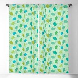 Ocean Amoeba – Sea Blobs in Greens & Blues (abstract pattern) Blackout Curtain