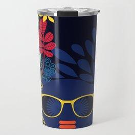 Afro Diva : Sophisticated Lady Blue Travel Mug