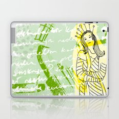 Unhappy Girl Laptop & iPad Skin
