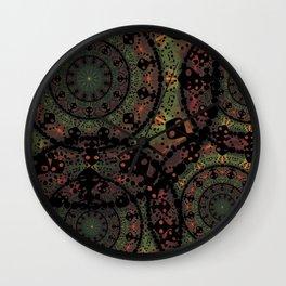 Mandala in Autumn Colors Wall Clock