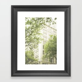green in the grey Framed Art Print