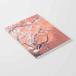 Van Gogh Almond Blossoms : Deep Peach Notebook