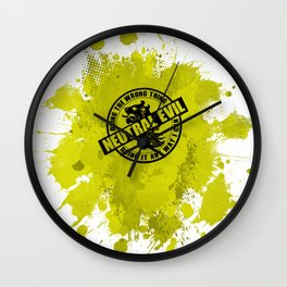 Neutral Evil RPG Game Alignment Wall Clock