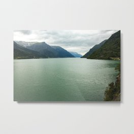 A lake with a beautiful view in Norway  | nature photo | fine art photo print | travel photography Metal Print