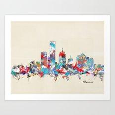 Milwaukee Wisconsin skyline Art Print
