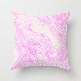 Akiko - spilled ink art print monoprint handmade japanese paper marble paper texture pattern map Throw Pillow