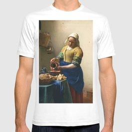 """Johannes Vermeer """"The Milkmaid"""" T-shirt"""