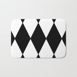 LARGE BLACK AND WHITE HARLEQUIN DIAMOND PATTERN Bath Mat