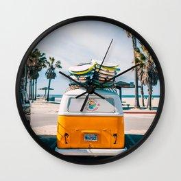 Combi van surf Wall Clock