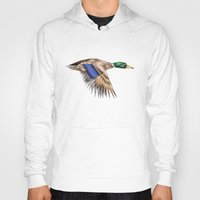 duck Hoodies featuring Duck by AkuMimpi