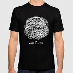 I'm a Mess MEDIUM Black Mens Fitted Tee