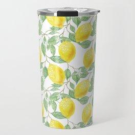 Sicilian Lemon Pattern I Travel Mug