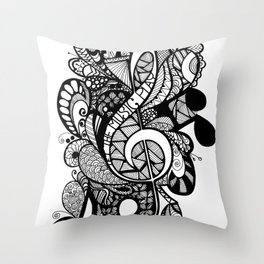 Let the music play! Throw Pillow