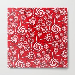 Candy Swirls-Large Metal Print