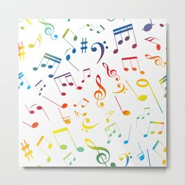 Musical Notes 21 Metal Print