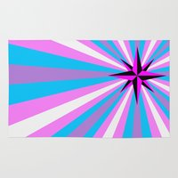 queer Area & Throw Rugs featuring Queer Trans Anarchy Flag by Wolfy