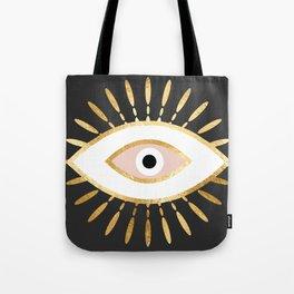 gold foil evil eye in blush Tote Bag