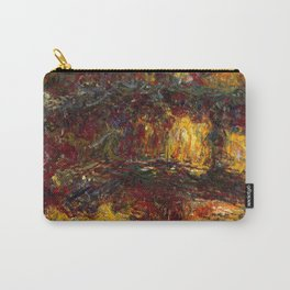 1920-Claude Monet-The Japanese Footbridge, Giverny-89 x 94 Carry-All Pouch