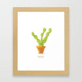 Bunny Ear Cactus Framed Art Print