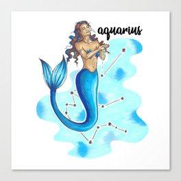 Aquarius Mermaid Canvas Print