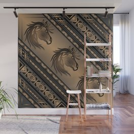 Horse Nation (Brown) Wall Mural