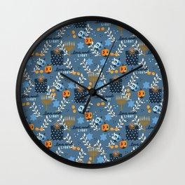 Love and Light Blue Hanukkah Wall Clock