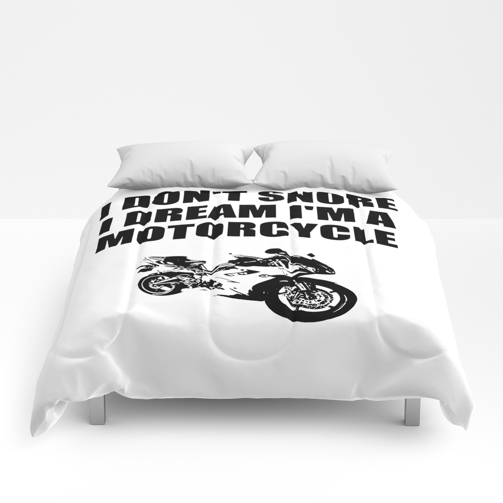 I Dont'snore I Dream I'm A Motorcycle Comforter by Deleveryart CMF8415322