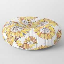 Sunflower Blooms – Yellow Floor Pillow