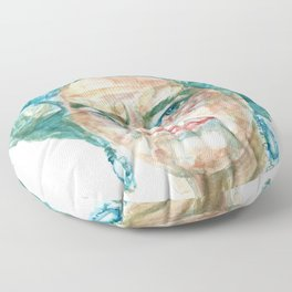 ELIZABETH II - watercolor portrait Floor Pillow