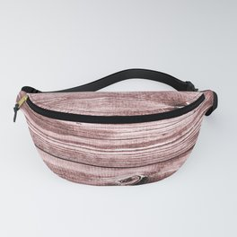 Reclaimed Vintage Apple-Smoked Rough Red Hewn Wood Fanny Pack