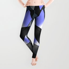 ABSTRACT CURVES #2 (Grays & Light Blue) Leggings