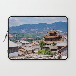 Chinese traditional tiled roofs Laptop Sleeve