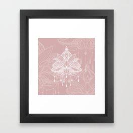 Blush mandala Framed Art Print