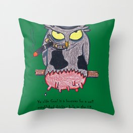 Ye Olde Cowl Throw Pillow