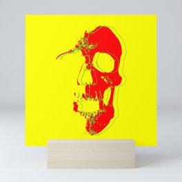 Skull - Red Mini Art Print