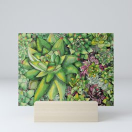 Watercolour Succulents Mini Art Print
