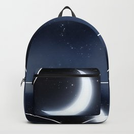 Crescent Moon over Starry Sky Backpack