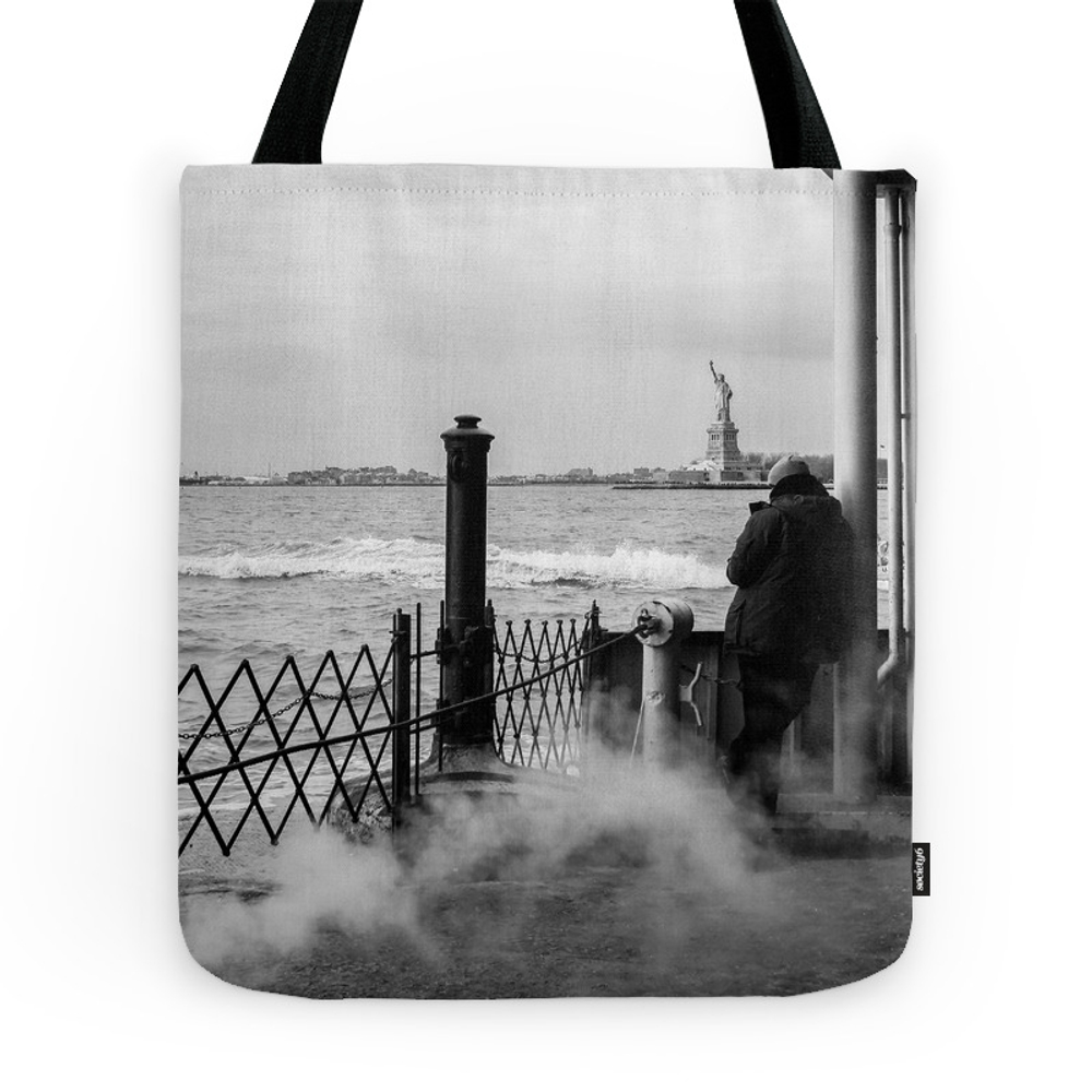 Liberty From The Back Of The Boat Tote Purse by shootfirstnyc (TBG7366991) photo