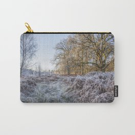 Along the Frosty Path Carry-All Pouch