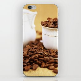 Creamer coffee cup coffee beans kitchen image 2 iPhone Skin
