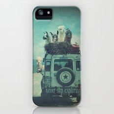 NEVER STOP EXPLORING II iPhone (5, 5s) Slim Case
