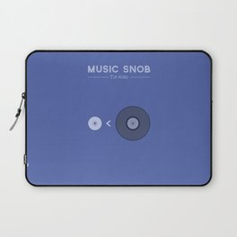 "NOT ""The New Vinyl"" — Music Snob Tip #082 Laptop Sleeve"