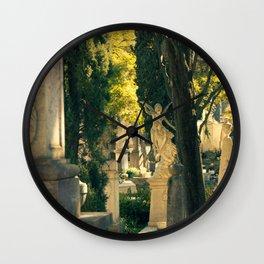 Cemiterio dos Prazeres Angel, Lisbon, Portugal Wall Clock