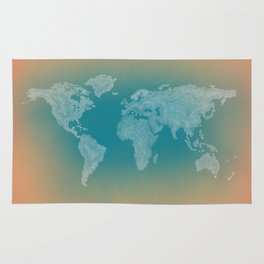 It's a Big ol' World - Pointilist Artwork Rug