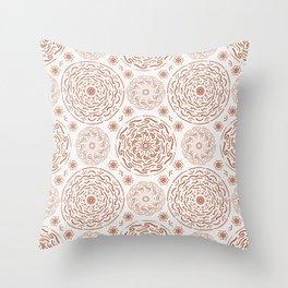 Terracotta Ornaments #society6 #pattern Throw Pillow