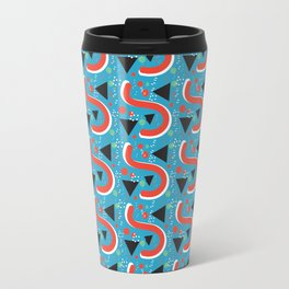Retro Pattern Travel Mug