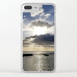 Shadowing clouds Clear iPhone Case