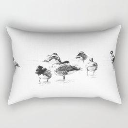 Wild geese pattern black and white Rectangular Pillow
