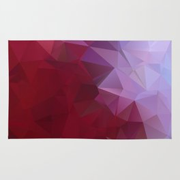 POPPY RED AND LILAC LOWPOLY Rug
