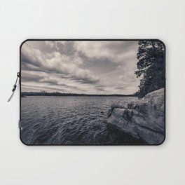 Black and White Boundary Waters Lake Laptop Sleeve